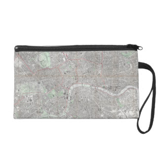 Vintage map of London city Wristlet