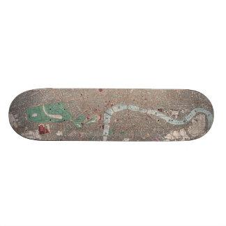 Vintage Map of London England (1862) Skateboards