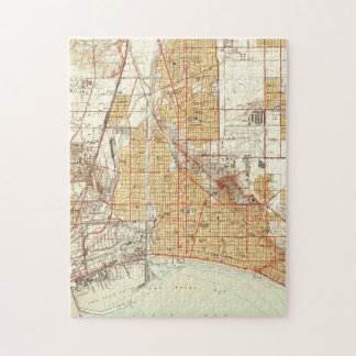 Vintage Map of Long Beach California (1949) 2 Jigsaw Puzzle