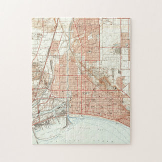 Vintage Map of Long Beach California (1949) Jigsaw Puzzle