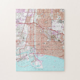Vintage Map of Long Beach California (1964) Jigsaw Puzzle