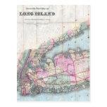 Vintage Map of Long Island (1880) Postcards