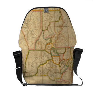 Vintage Map of Louisiana (1816) Courier Bags