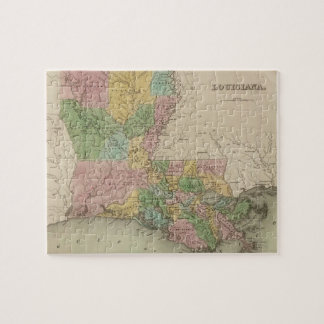Vintage Map of Louisiana (1838) Jigsaw Puzzle