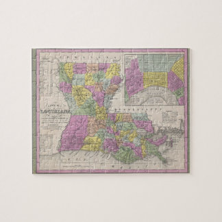 Vintage Map of Louisiana (1853) Jigsaw Puzzle