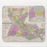 Vintage Map of Louisiana (1853) Mousepads