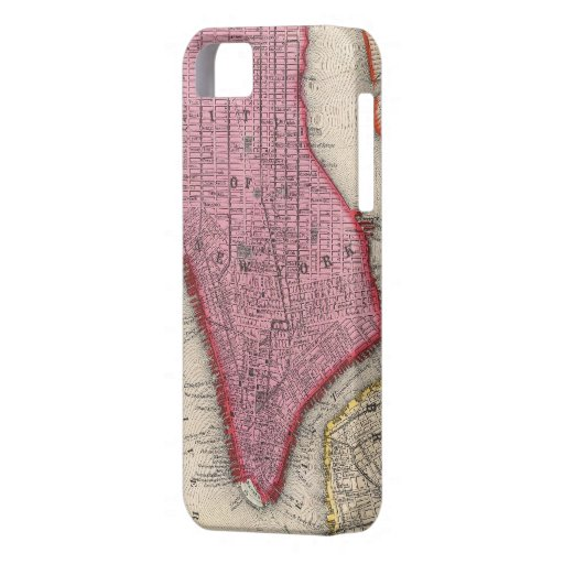 Vintage Map of Lower New York City (1860) iPhone 5 Case