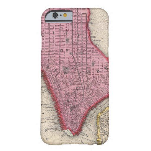 Vintage Map of Lower New York City (1860) iPhone 6 Case
