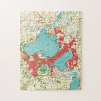 Vintage Map of Madison Wisconsin (1959) Jigsaw Puzzle