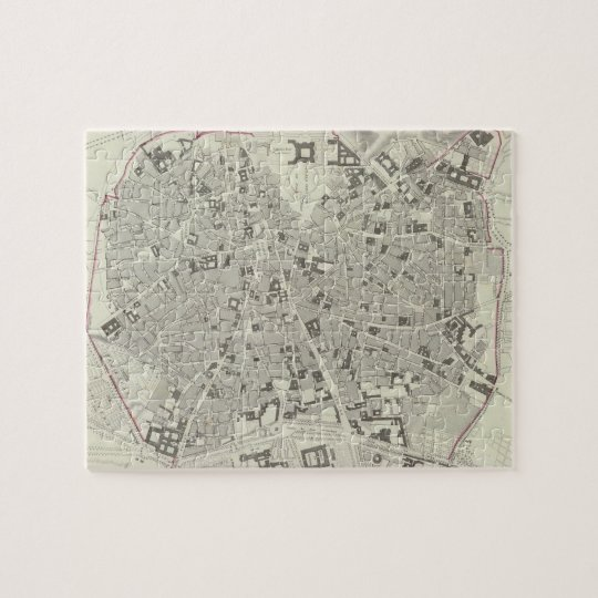 Vintage Map of Madrid Spain (1831) Jigsaw Puzzle