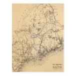 Vintage Map of Maine (1894) Postcard