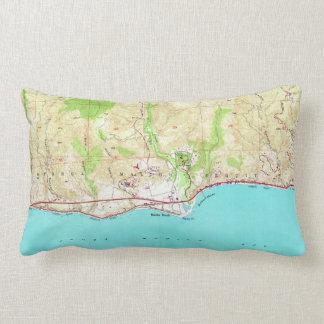 Vintage Map of Malibu California (1950) Lumbar Cushion