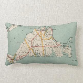 Vintage Map of Martha's Vineyard (1917) Lumbar Cushion