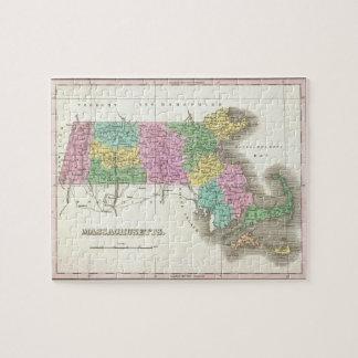Vintage Map of Massachusetts (1827) Jigsaw Puzzle