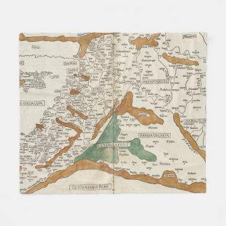 Vintage Map of Mesopotamia (1482) Fleece Blanket