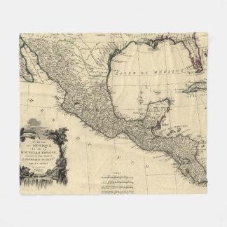 Vintage Map of Mexico (1779) Fleece Blanket