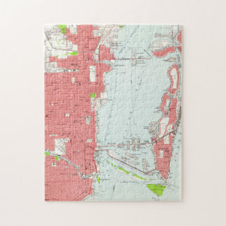Vintage Map of Miami Florida (1950) 2 Jigsaw Puzzle