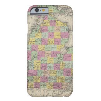 Vintage Map of Michigan (1853) Barely There iPhone 6 Case
