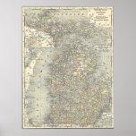 Vintage Map of Michigan (1901) Poster