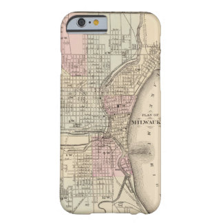 Vintage Map of Milwaukee (1880) Barely There iPhone 6 Case