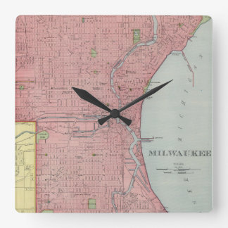Vintage Map of Milwaukee Wisconsin (1903) Wall Clock