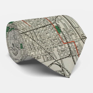 Vintage Map of Minneapolis Minnesota (1921) Tie