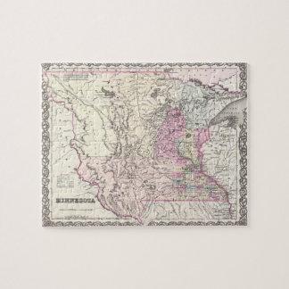 Vintage Map of Minnesota (1855) Jigsaw Puzzle
