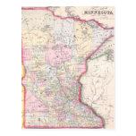 Vintage Map of Minnesota (1864) Post Cards