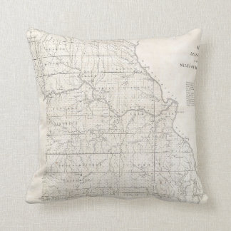 Vintage Map of Missouri (1850) Cushion