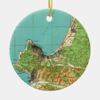 Vintage Map of Monterey California (1941) Ceramic Ornament