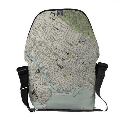 Vintage Map of Montreal (1901) Messenger Bag