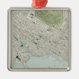 Vintage Map of Montreal (1901) Metal Ornament