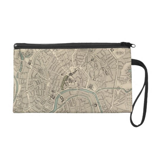 Vintage Map of Moscow (1836) Wristlet Clutches