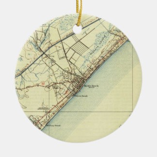 Vintage Map of Myrtle Beach South Carolina (1940) Ceramic Ornament