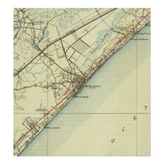 Vintage Map of Myrtle Beach South Carolina (1940) Poster