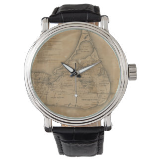 Vintage Map of Nantucket (1869) Watch