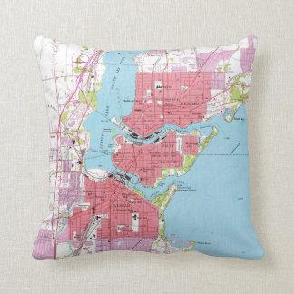 Vintage Map of Neenah Wisconsin (1955) Cushion