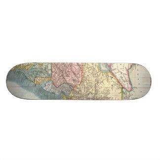 Vintage Map of New England (1821) Skate Board Deck