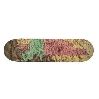 Vintage Map of New England (1836) Skate Deck