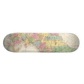 Vintage Map of New England (1839) Custom Skate Board