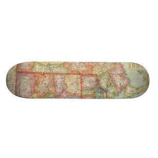 Vintage Map of New England States (1900) Skateboard Decks