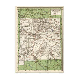 Vintage map of New Mexico Canvas Print