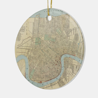 Vintage Map of New Orleans (1919) Ceramic Ornament