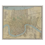 Vintage Map of New Orleans (1919) Print