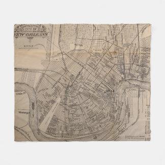Vintage Map of New Orleans Louisiana (1902) Fleece Blanket