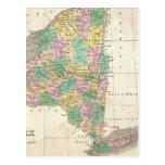 Vintage Map of New York (1827) Postcards