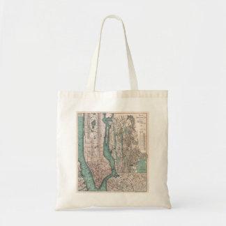 Vintage map of New York (1897) Budget Tote Bag