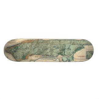 Vintage Map of New York City (1865) Skateboard Deck