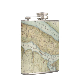 Vintage Map of New York City (1869) Hip Flask