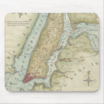 Vintage Map of New York City (1869) Mousepad